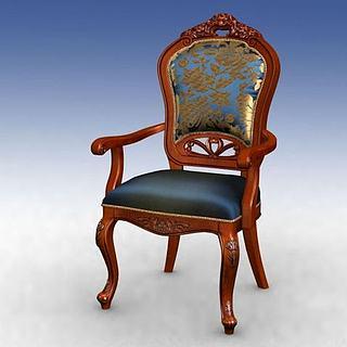 古典美式<font class='myIsRed'>餐椅</font>3d模型
