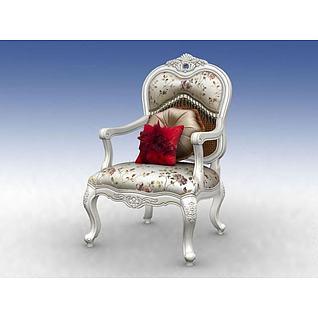 高档欧式沙发3d模型