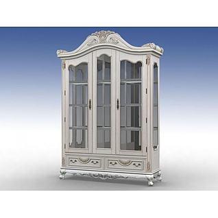 欧式精品酒柜3d模型