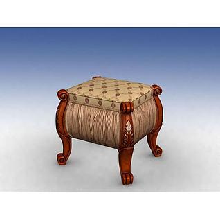梳妆凳3d模型