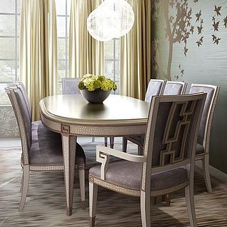 家用餐桌椅3d模型
