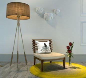 休闲椅壁饰组合