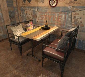 loft复古工业风桌椅