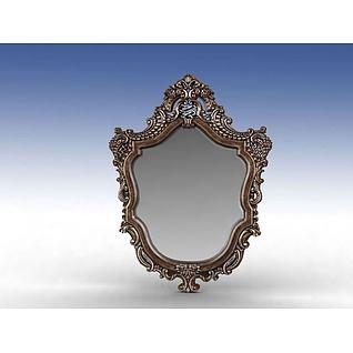 豪华镜子3d模型
