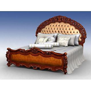 豪华大床3d模型3d模型