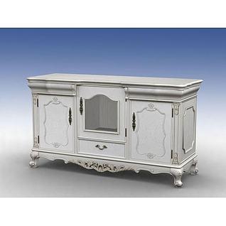 欧式餐边柜3d模型