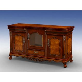 实木餐边柜3d模型