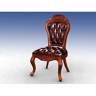高档餐椅3d模型