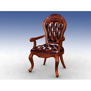 古典美式椅子3d模型