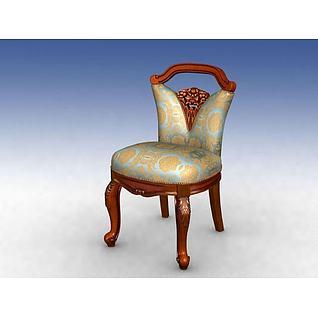 梳妆椅3d模型
