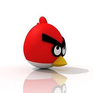 愤怒的小鸟3d模型