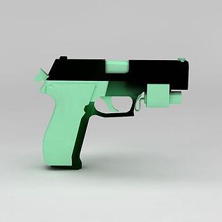 p226枪3d模型3d模型
