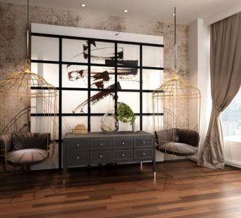 后现代吊椅装饰柜组合