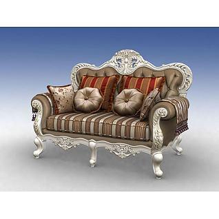欧式沙发椅3d模型