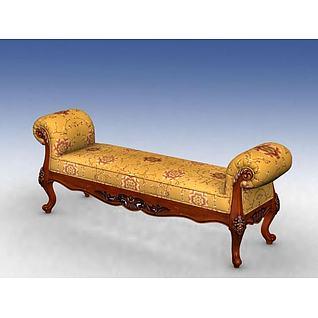 床前凳3d模型