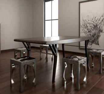 工业风餐桌椅组合