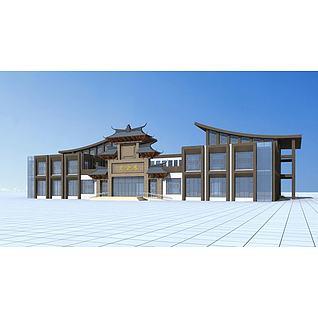 特色会所建筑3d模型