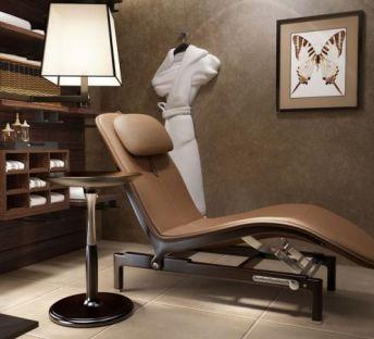 现代休闲躺椅浴袍组合