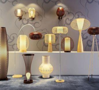 艺术竹篾灯具