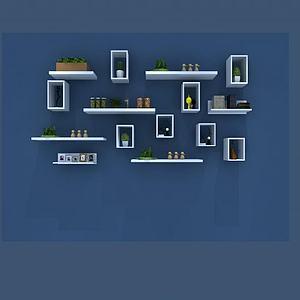植物墙摆设模型