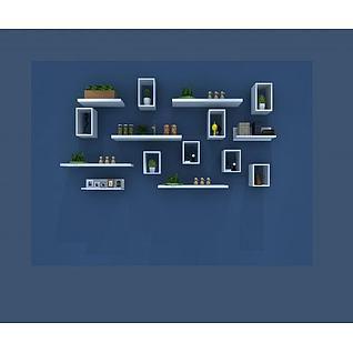 植物墙摆设3d模型