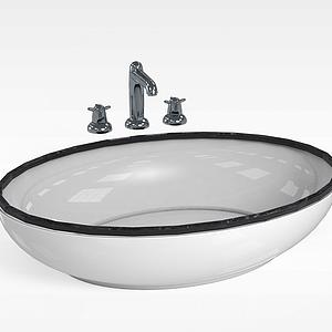 浴室洗脸盆模型
