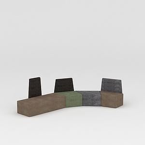 创意沙发凳模型
