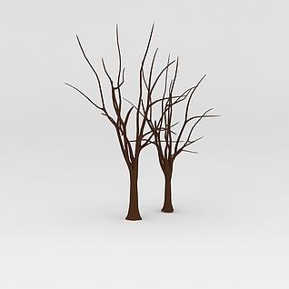 光秃秃的树3d模型3d模型