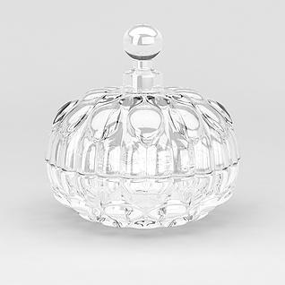 球形玻璃酒瓶3d模型
