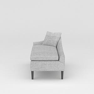 灰色沙发椅模型