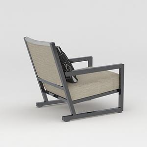 中式座椅模型