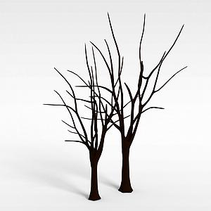 光秃秃的树模型