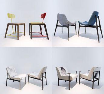 新中式椅子组合