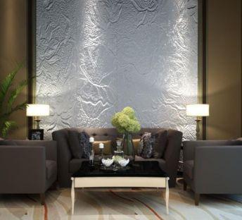 现代沙发椅造型墙组合