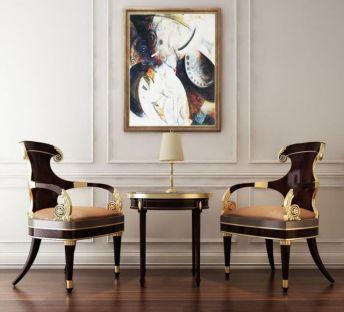欧式古典椅子茶几组合
