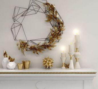 精美壁饰烛台摆件组合