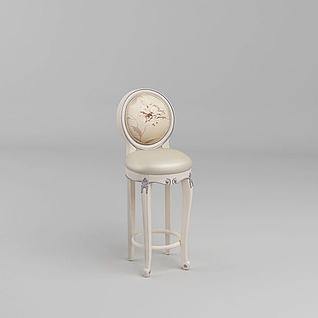 欧式吧台椅3d模型