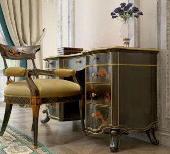 欧式雕花桌椅组合