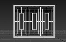 中式窗户模型