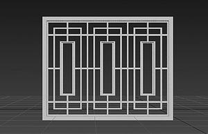 中式窗戶模型3d模型