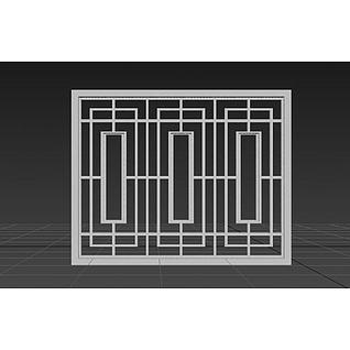 中式窗户3d模型