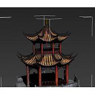 八角亭子3D模型3d模型