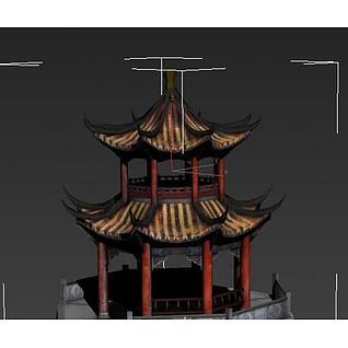 八角亭子3d模型