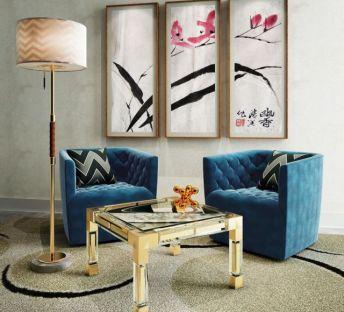 现代时尚休闲椅创意茶几组合