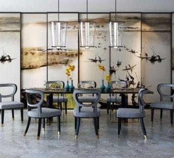 现代时尚餐桌椅组合