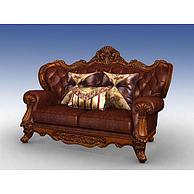 美式双人沙发3D模型3d模型