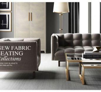 现代美式沙发组合