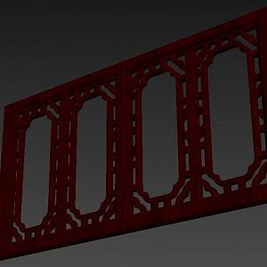 古典中式窗戶模型3d模型