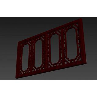 古典中式窗户3d模型