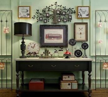 美式乡村柜子树木墙饰组合